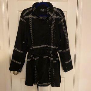 Plaid Tie Waist Coat Size XL